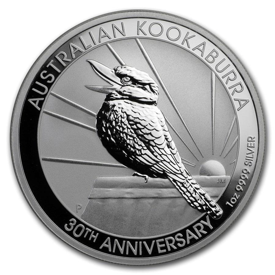 CAPSULES THREE 2009 AUSTRALIA SILVER 1 OUNCE KOOKABURRAS IN MINT CONDITION