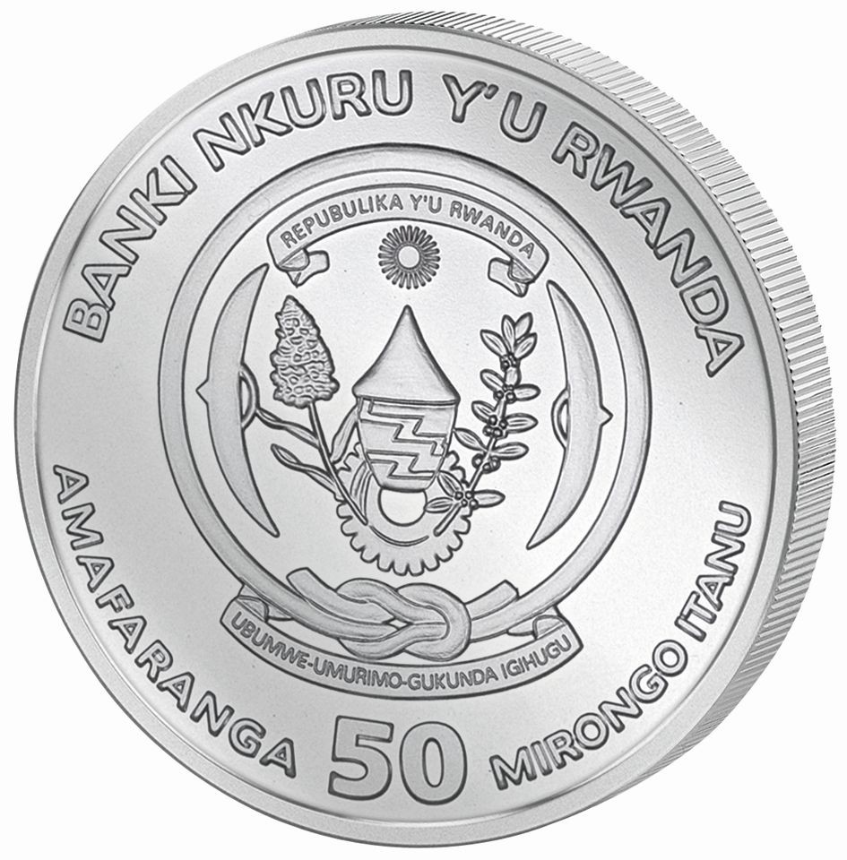 2019 Rwanda 50 Francs African Wildlife Shoebill 1 Oz Silver Coin sealed!