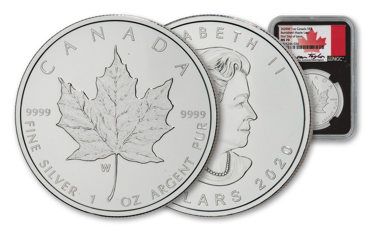 2010 1 Oz Silver $5 CANADIAN MAPLE LEAF Coin.